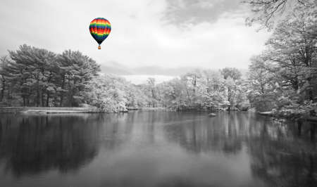 The infrared dreamy scenery  of  a park in New Jersey Stock Photo - 3247083