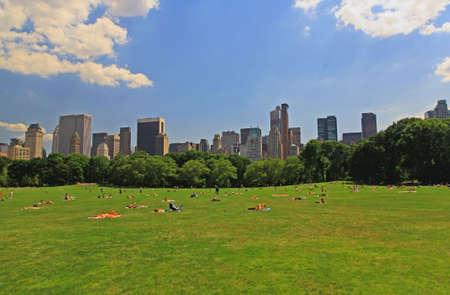 high park: Il Grande prato nel Central Park di New York City Archivio Fotografico