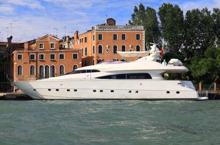 venice: A luxury yacht docked at Venice seaside