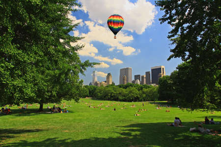 city park skyline: The Great Lawn in Central Park New York City