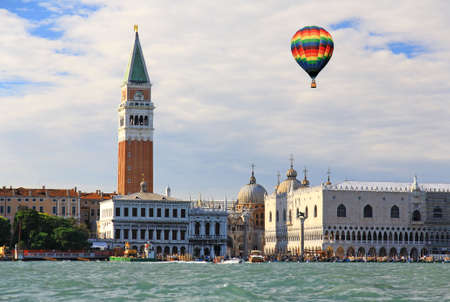 The scenery at  San Marco Plaza in Venice Italy photo