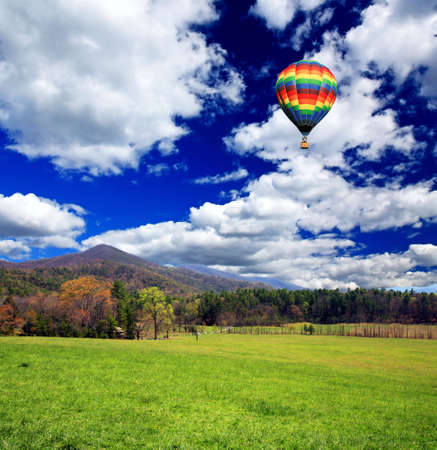 A scenery landscape of  the Great Smoky Mountain National Park photo