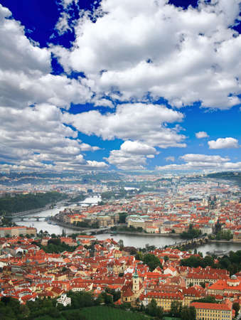 picturesque: The aerial view of picturesque Prague City Czech Republic