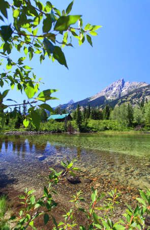 jenny: a river near Jenny Lake in Grand Teton National Park