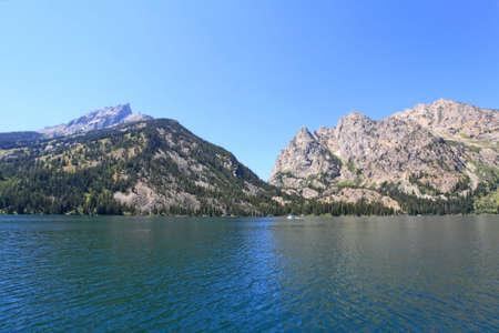 jenny: The Jenny Lake in Grand Teton National Park Stock Photo