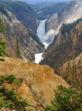 The Lower Falls at the Grand Canyon of the Yellowstone photo