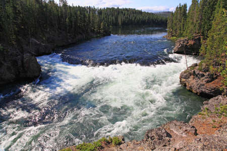 The Yellowstone River near Upper Falls at the Grand Canyon in the Yellowstone photo