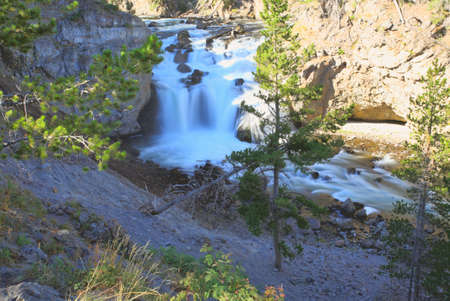 The Firehole Falls in the Yellowstone National Park photo