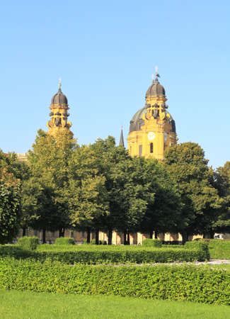 residenz: The scenery at the Residenz and Odeonsplatz in Munich Stock Photo