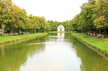 nymphenburg palace: The scenery at the Nymphenburg palace in Munich Germany