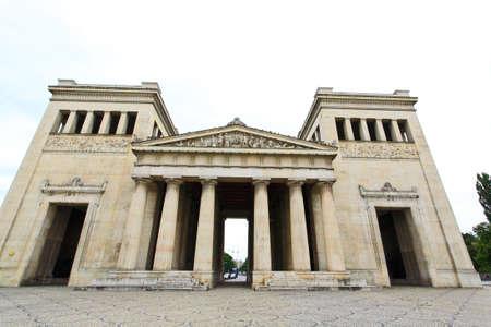 The majestic Konigsplatz square and museums in Munich Germany Stok Fotoğraf