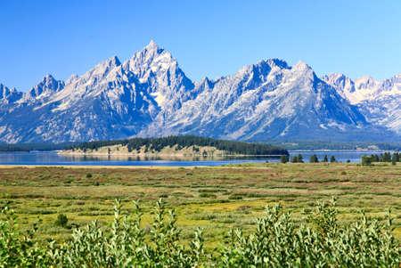 teton: Il Grand Teton National Park in Wyoming Archivio Fotografico