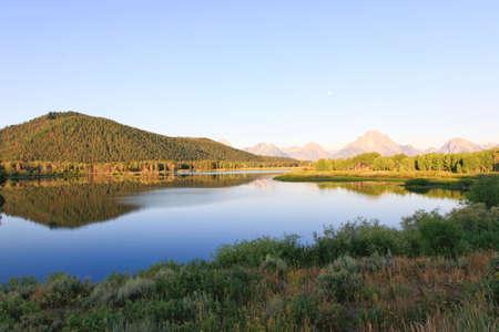 The Oxbow Bend Turnout Area in Grand Teton National Park in the morning light photo