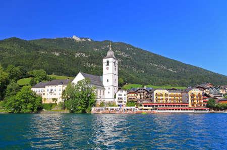 lake district: The beautiful St. Wolfgang in Lake district near Salzburg Austria