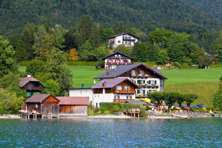 The beautiful countryside of St. Wolfgang in Lake district near Salzburg Austria