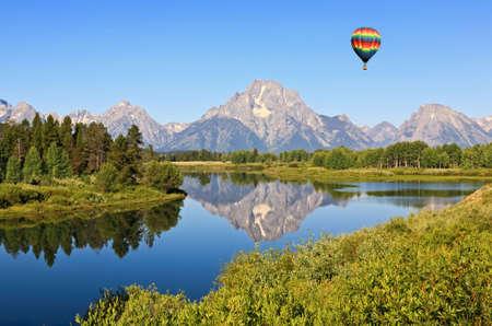 teton: Il Grand Teton National Park in Wyoming USA Archivio Fotografico