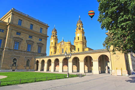 The scenery at the Residenz and Odeonsplatz in Munich photo