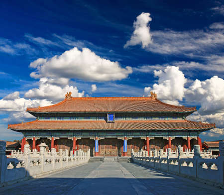 The emperor?s palace for daily business in the historical Forbidden City in Beijing