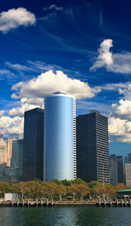 The high-rise office buildings in downtown Manhattan, New York City photo