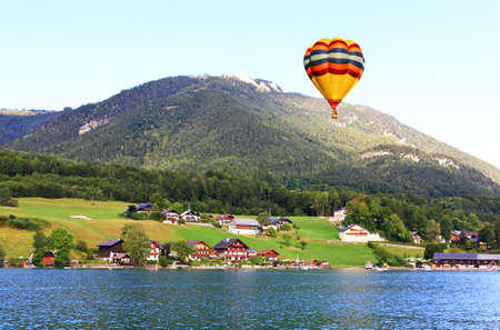 wolfgang: The beautiful countryside of St. Wolfgang in Lake district near Salzburg Austria