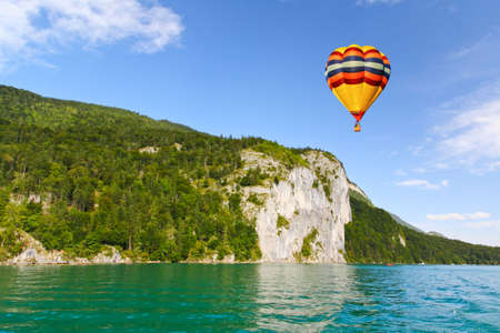 The beautiful countryside around Lake Wolfgang in Lake district near Salzburg Austria photo