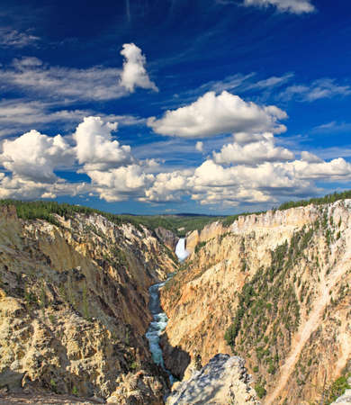 The Lower Falls in the Grand Canyon of the Yellowstone from the Artist Point photo
