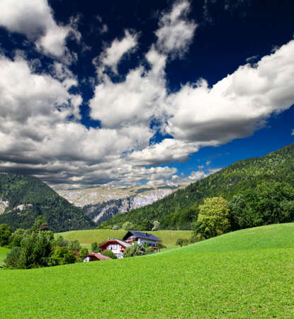 The beautiful countryside of St. Wolfgang in Lake district near Salzburg Austria Stock Photo - 3885281