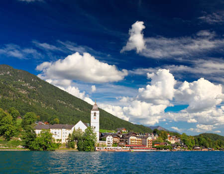 lake district: The beautiful St. Wolfgang in Lake district, Austria