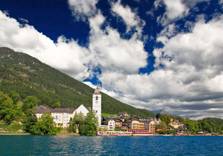 castle district: The beautiful St. Wolfgang in Lake district, Austria