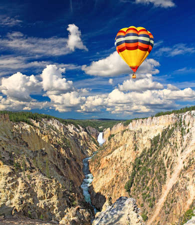 The Lower Falls in the Yellowstone National Park photo