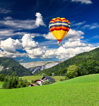wolfgang: The beautiful countryside of St. Wolfgang in the Lake District in Austria Stock Photo