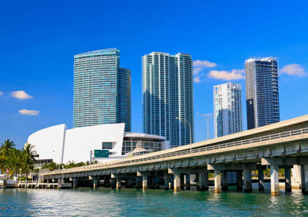 The high-rise buildings in downtown Miami Florida Stock Photo