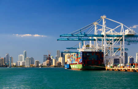 The Port of Miami is the major port in USA Stock Photo - 3982128