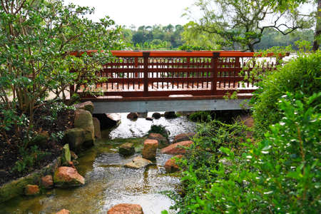 A Famous Traditional Japanese Garden In Southern Florida Stock Photo    3982413