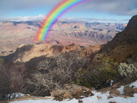 The Grand Canyon National Park in Arizona US
