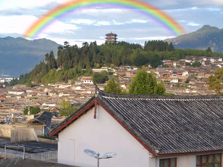 yunnan: scenery landscape in Lijiang City in China