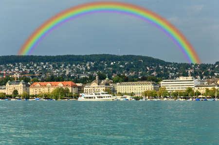 The cityscape of Zurich city in Switzerland  photo