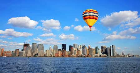 The Lower Manhattan Skyline viewed from Liberty Park New Jersey 免版税图像 - 4040343