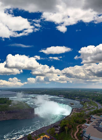 An aerial view of the Niagara Falls between US and Canada Stock Photo - 4174855