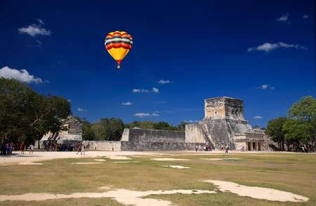 The stadium near chichen itza temple in Mexico