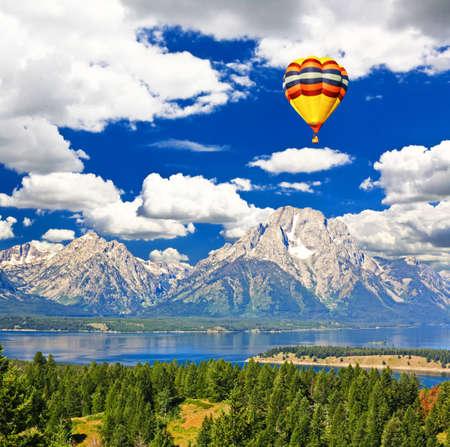 The landscape of Grand Teton National Park USA photo