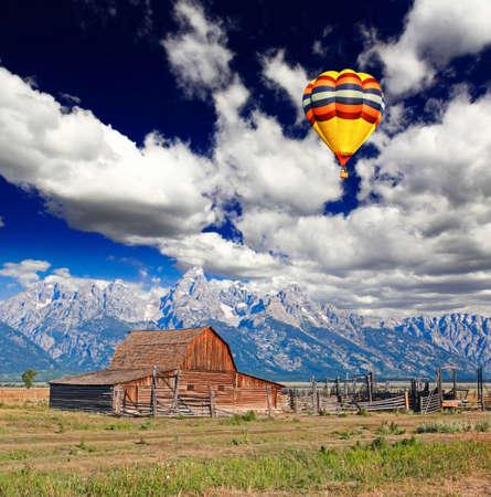 The Moulton Barn in Grand Teton National Park USA photo