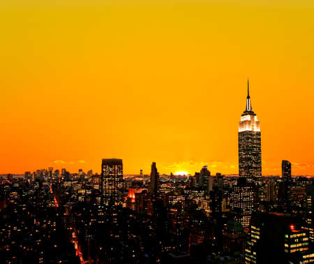 the old times: The New York City midtown skyline at sunrise