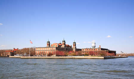 ellis: The main immigration building on Ellis Island in New York harbor