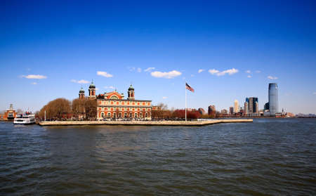 The main immigration building on Ellis Island in New York harbor photo