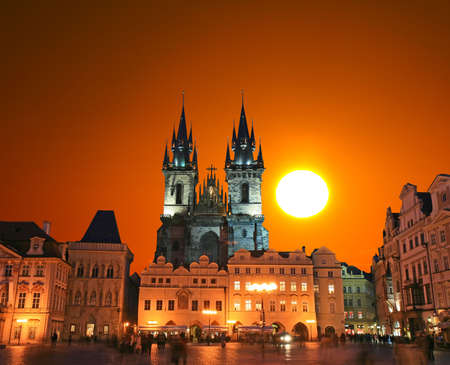 The Old Town Square in the center of Prague City
