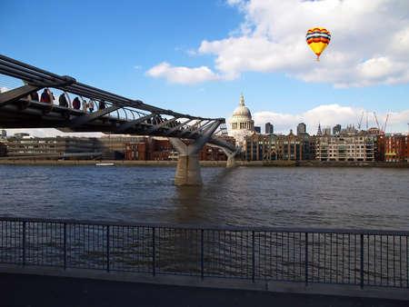 millenniam bridge in City of London UK