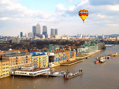 east end: Aerial view of City of London