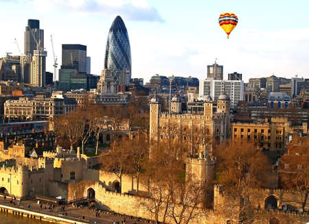 Aerial view of City of London UK photo