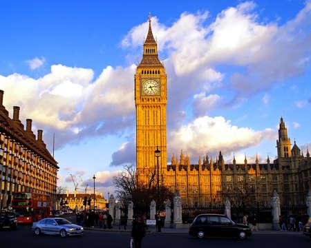 Big Ben in London UK at Sunset